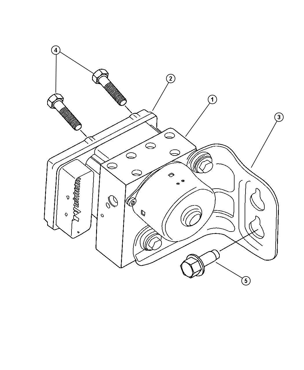 Chrysler Pacifica Module Anti Lock Brakes Anti
