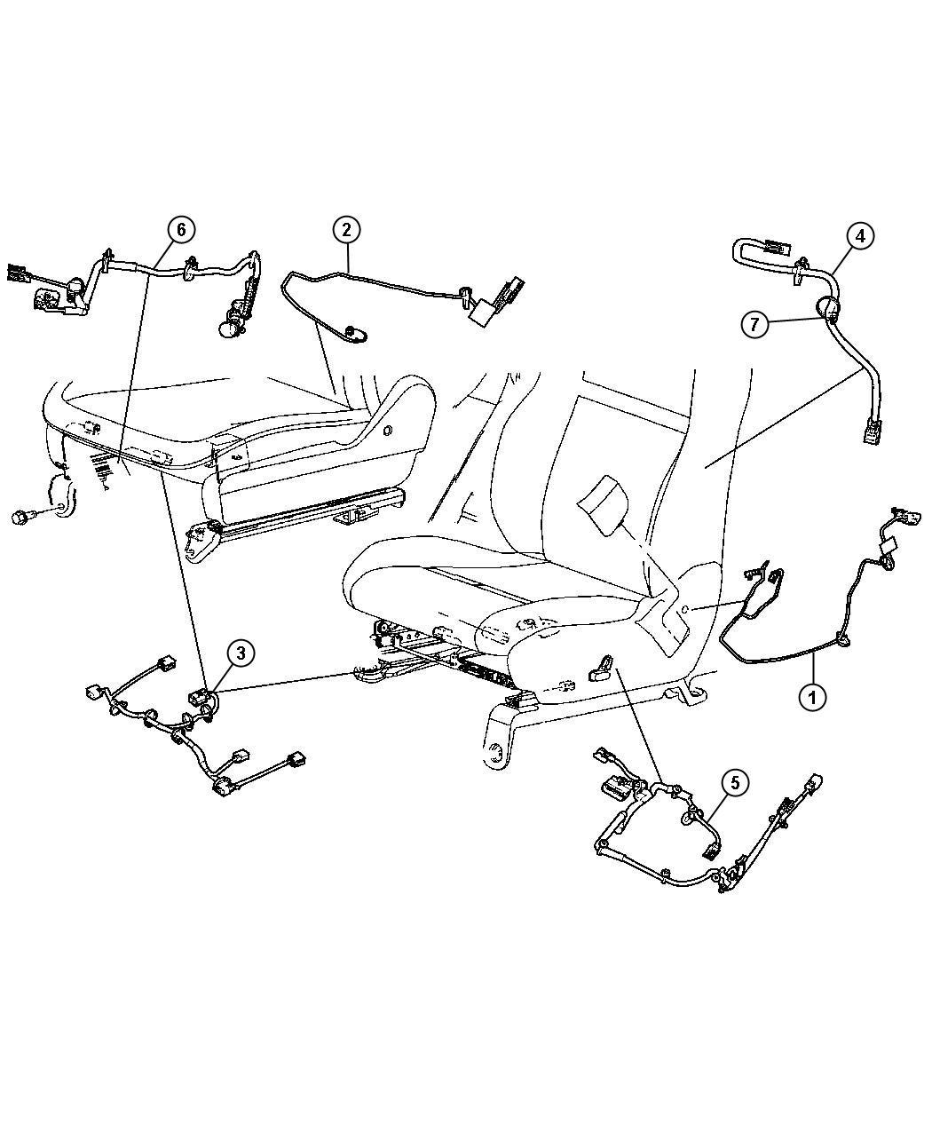 Jeep Commander Wiring Power Seat Trim Yl