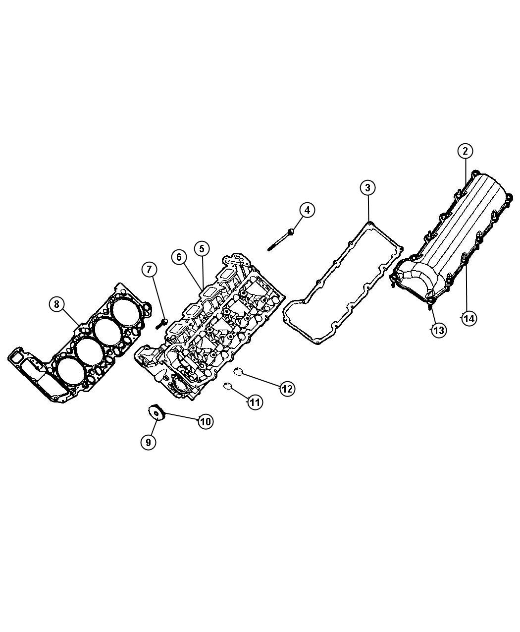 Jeep Grand Cherokee Gasket Package Engine Upper Notes