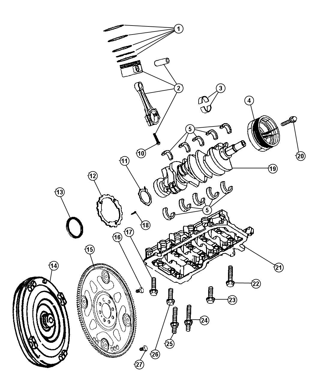 Jeep Grand Cherokee Bolt Connecting Rod Mounting