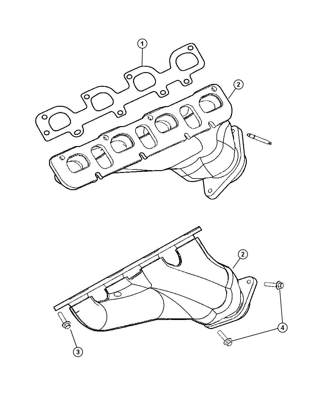 Jeep Grand Cherokee Manifold Exhaust Left Engine Hemi