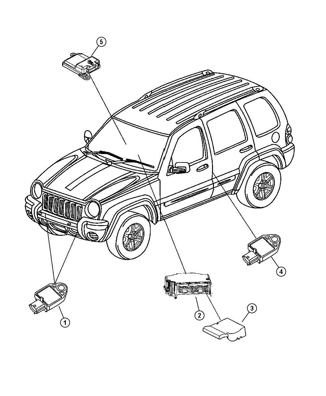 Jeep Liberty Module Occupant Classification Trim Seats