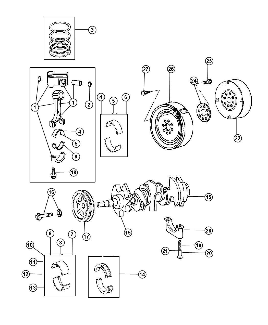 Dodge Viper Brg Pkg Connecting Rod Engine
