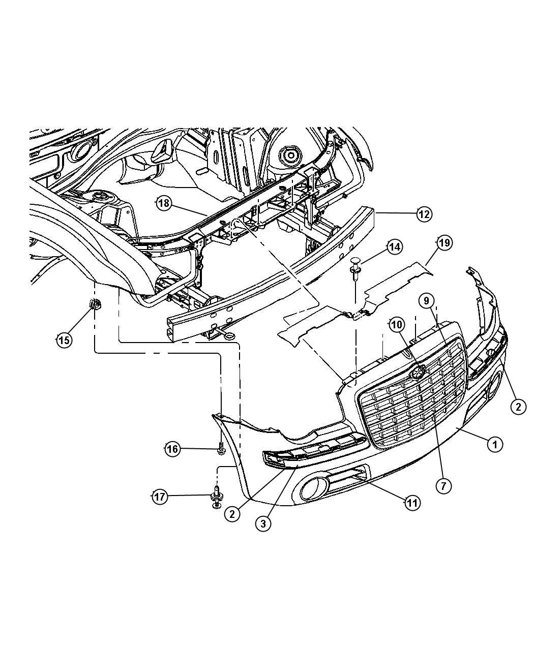 Dodge Grand Caravan Nozzle Washer Headlamp Left