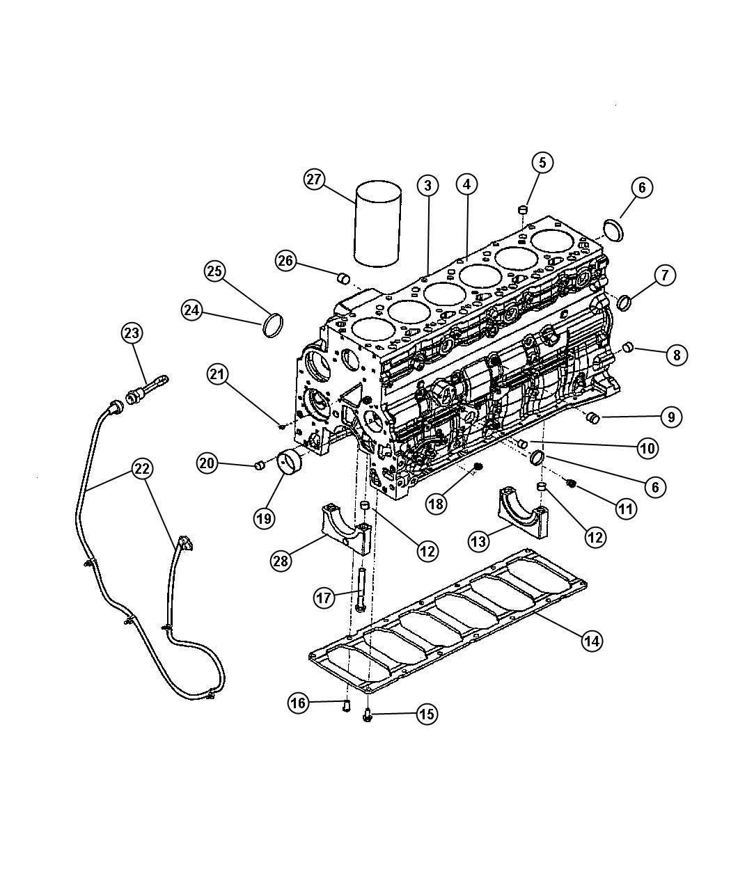 Dodge Ram Plug Core Cylinder Block Freeze