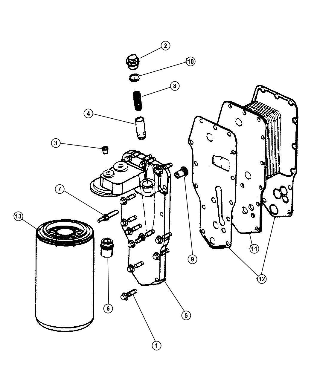 Dodge Ram Plunger Oil Pressure Regulator Oil