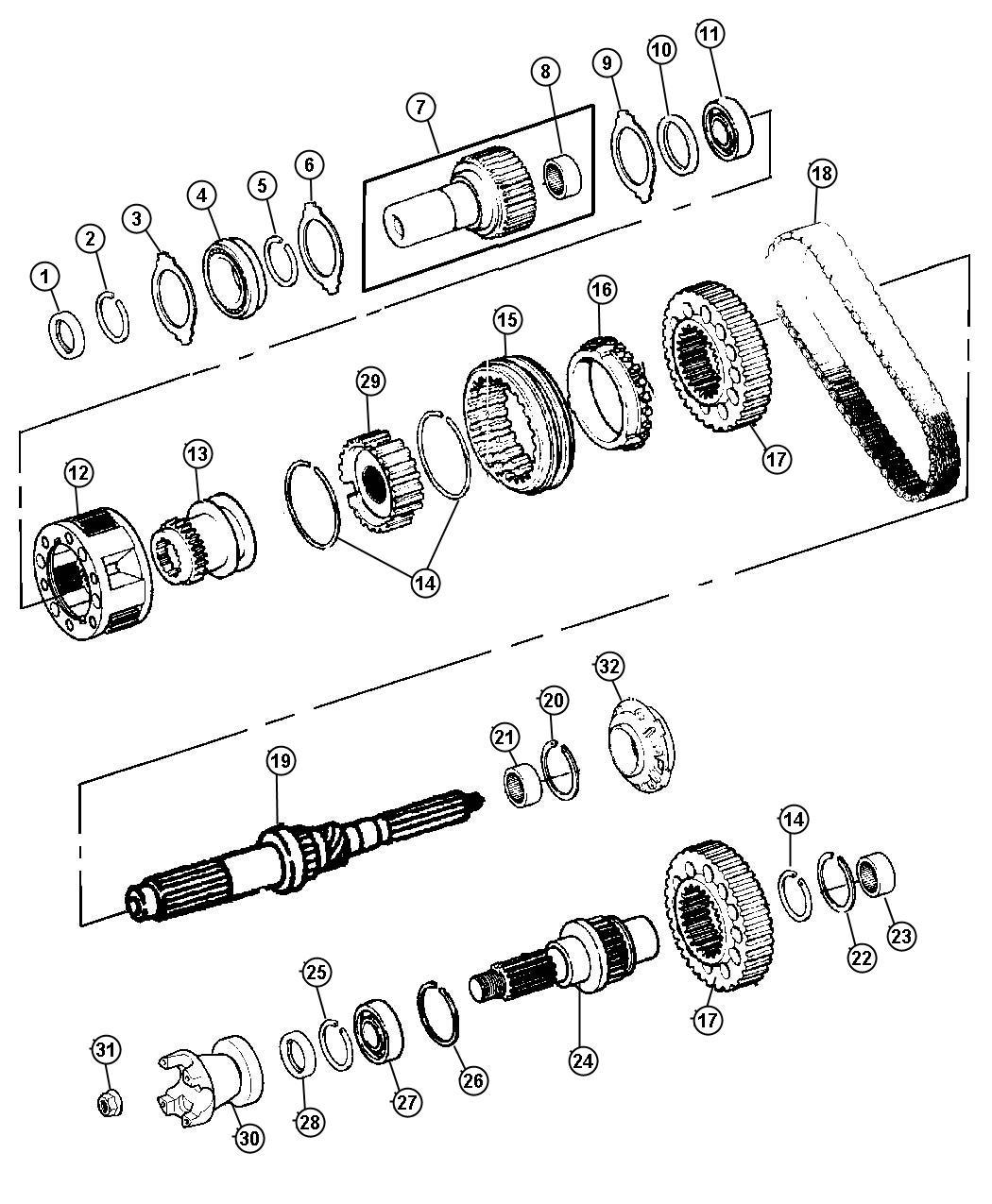 Dodge Ram Chain Transfer Case Geartrain