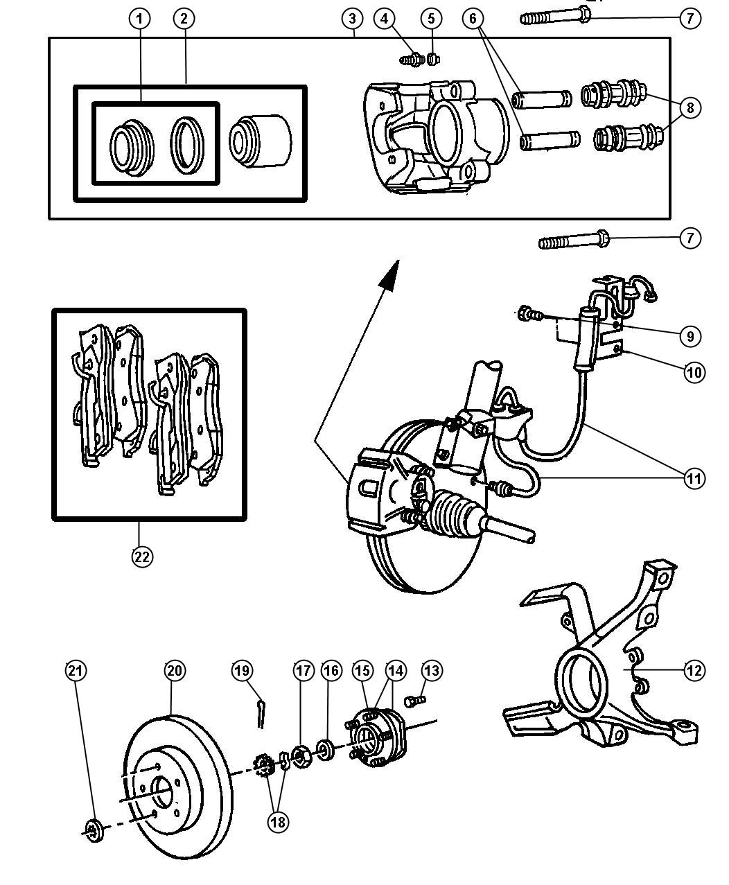 Dodge Nitro Used For Boot And Seal Disc Brake Used For