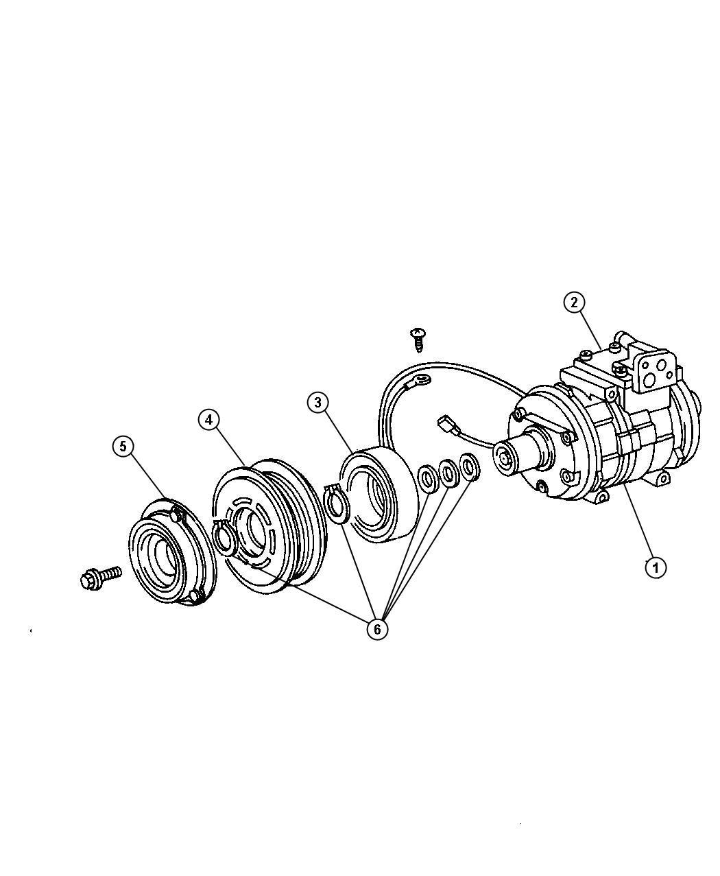 Dodge Caliber Compressor Air Conditioning Export