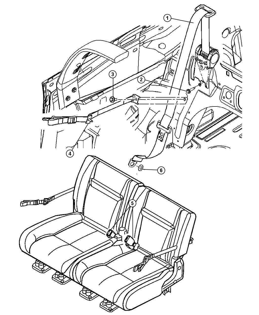 Chrysler Pt Cruiser Seat Belt Rear Buckle Da