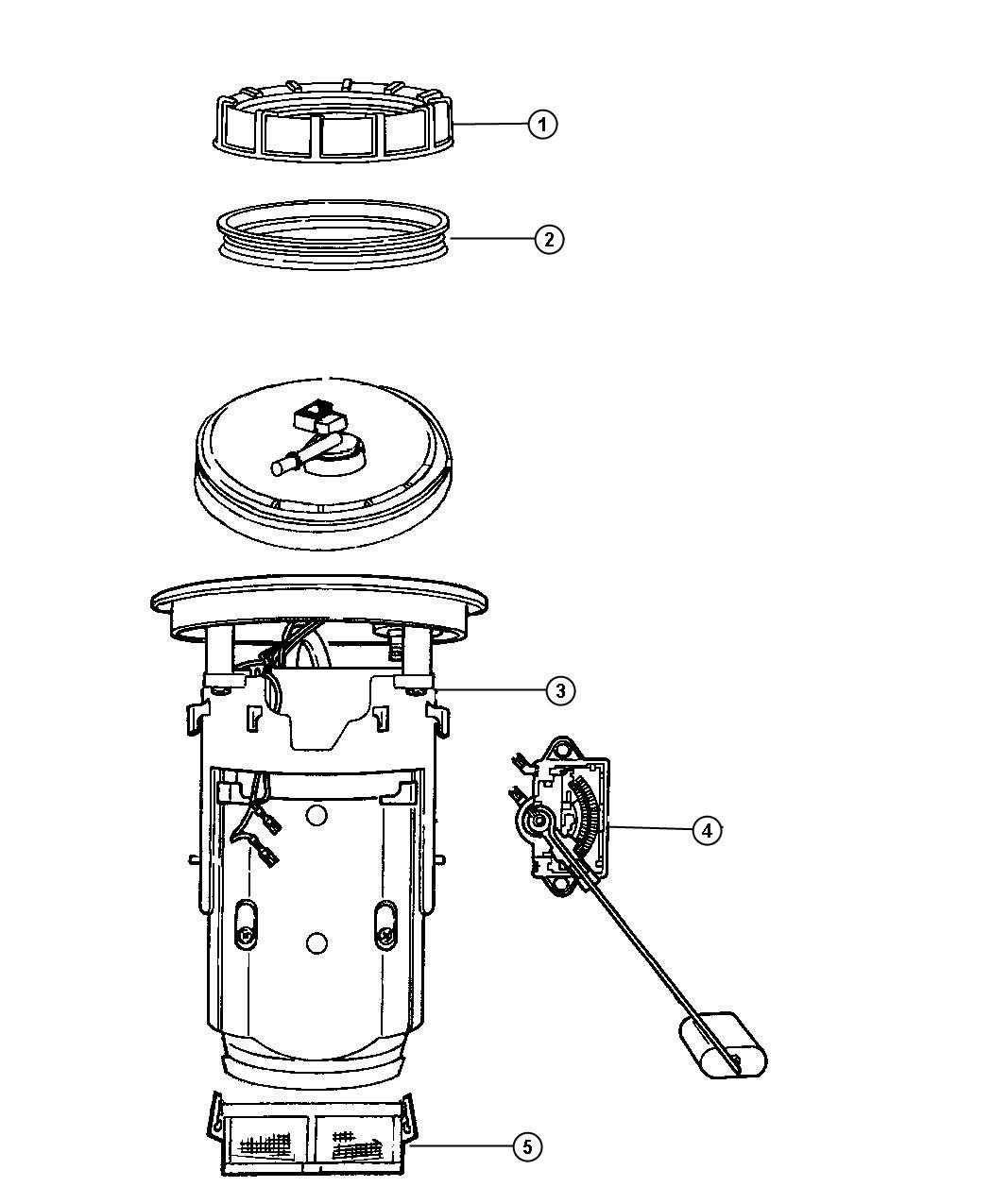 Dodge Viper Module Kit Fuel Pump Level Unit