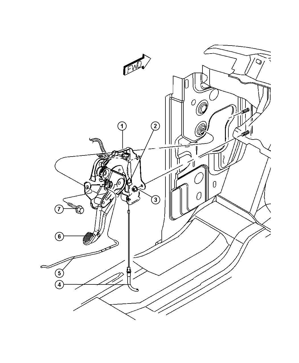 Chrysler 200 Lever Assembly Parking Brake Items