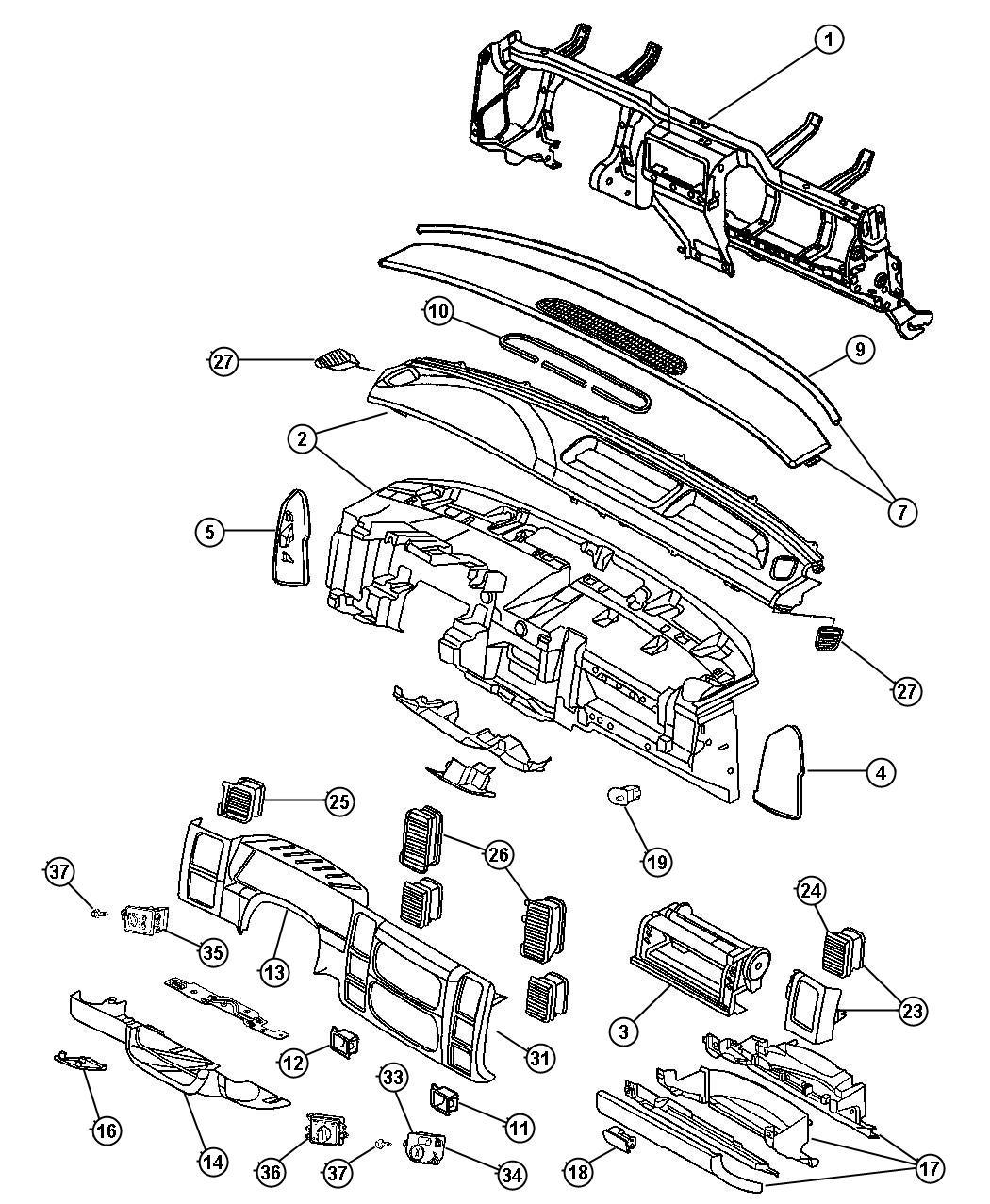 Chrysler 300 Cover Steering Column D5 Trim All