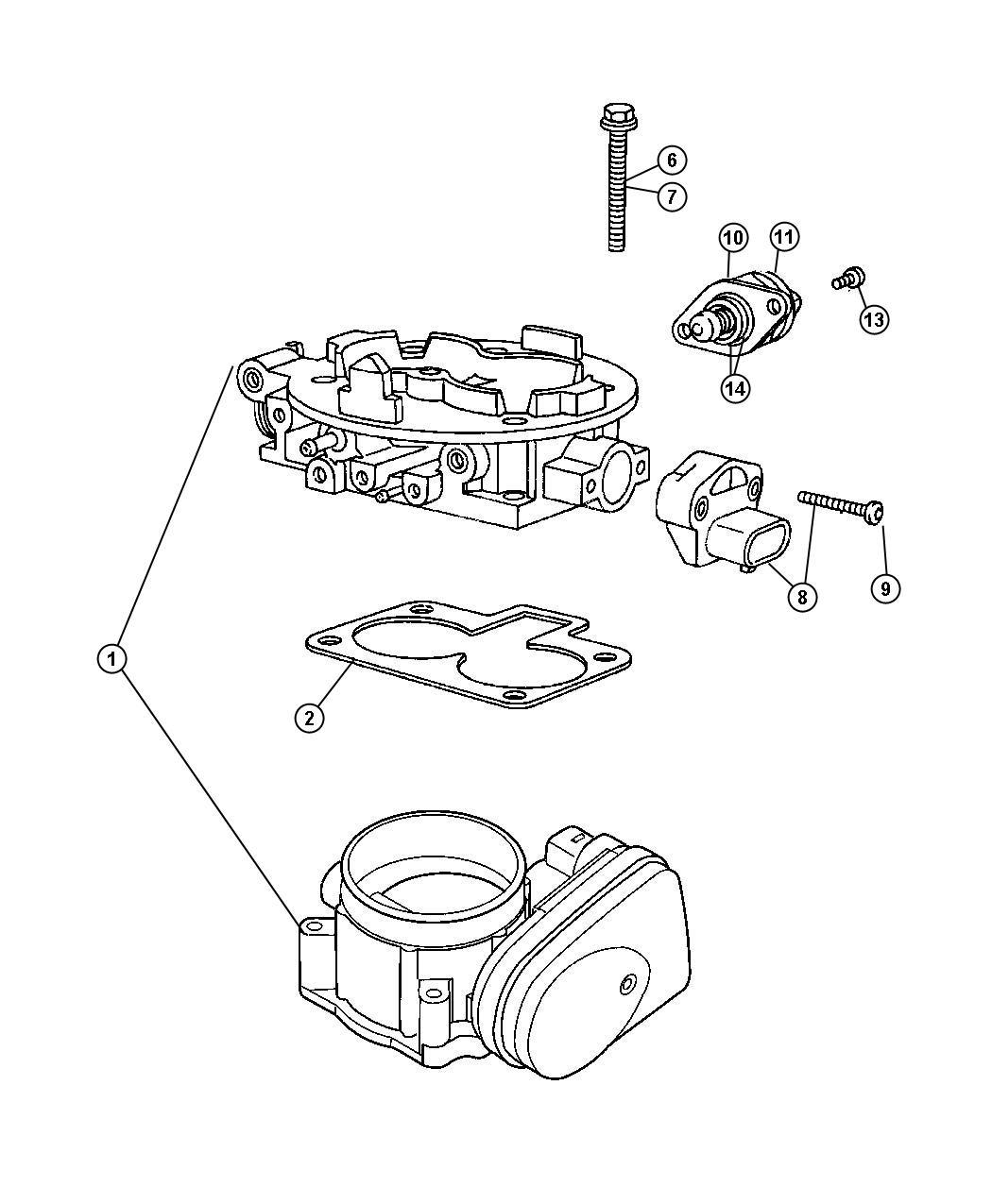 Dodge Ram Sensor Sensor Kit Throttle Position