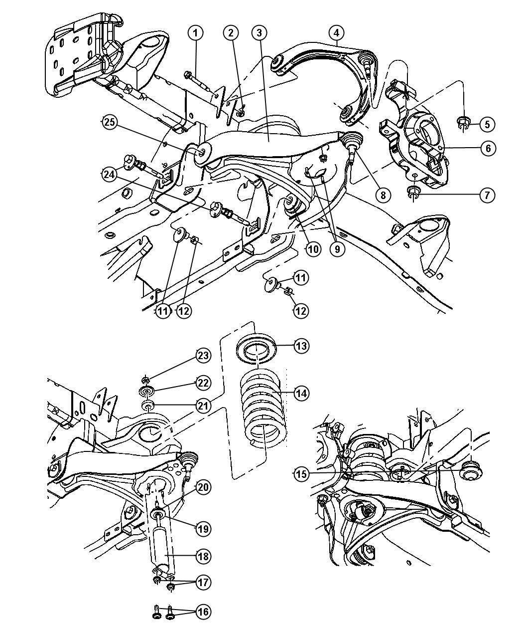 Dodge Ram Bushing Control Arm Rear Suspension