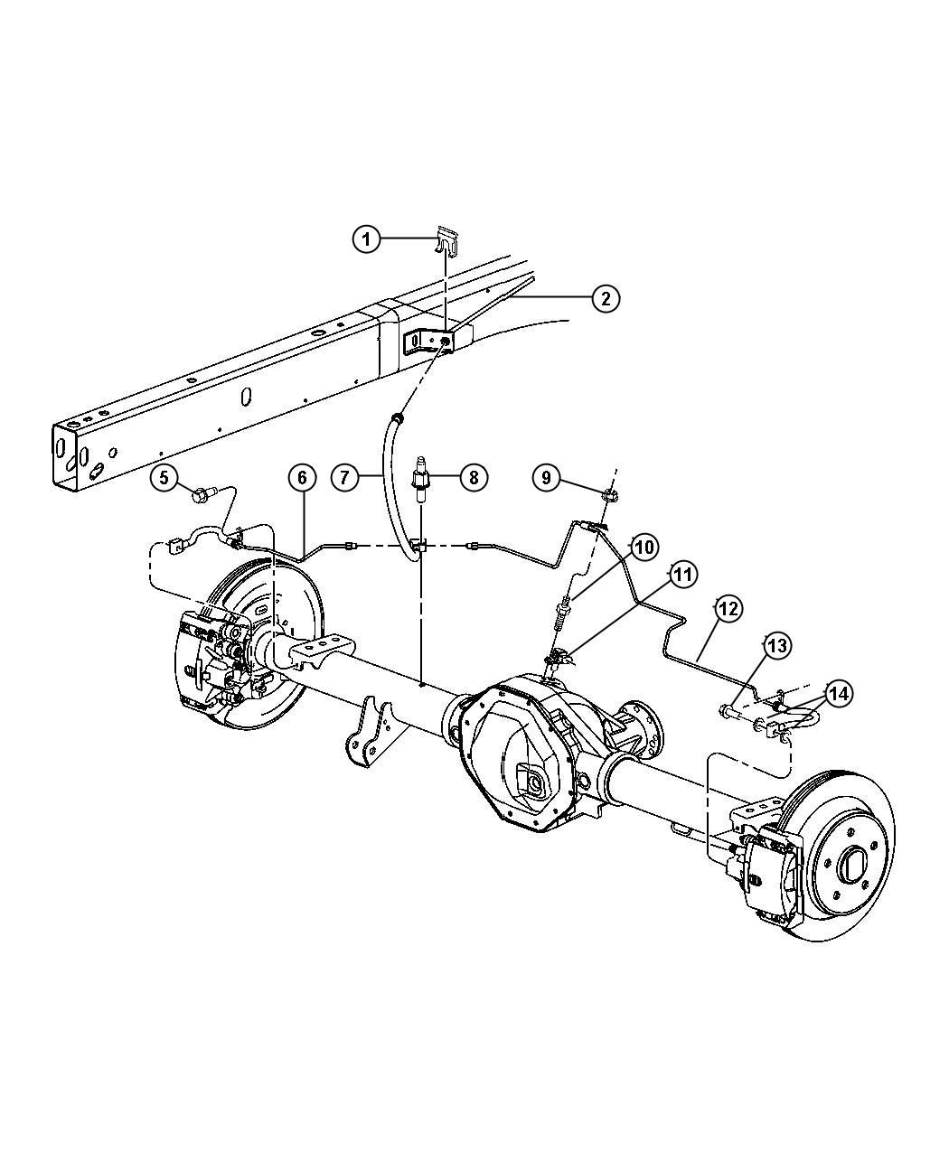 Dodge Ram Used For Tube And Hose Brake Right
