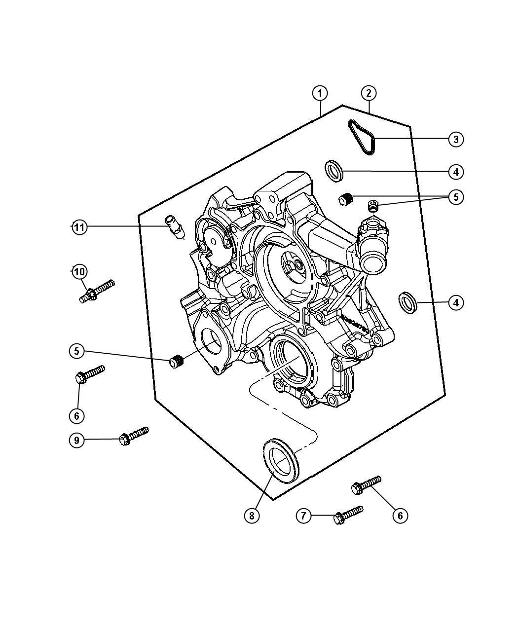 Jeep Commander Cover Chain Case Timing Belt Egk