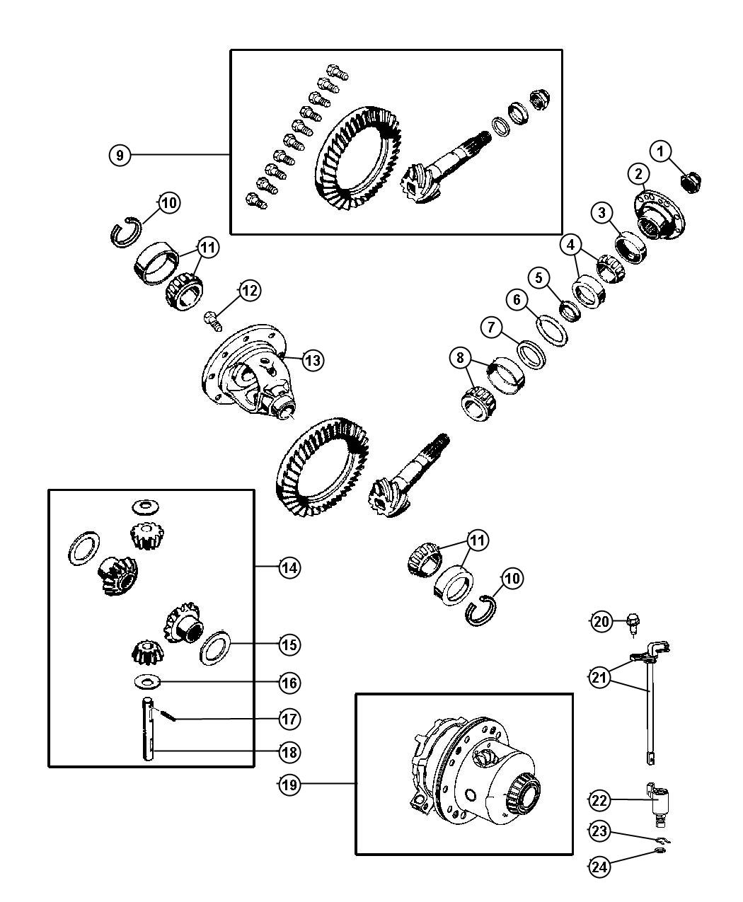 Jeep Commander Gear Kit Used For Ring And Pinion