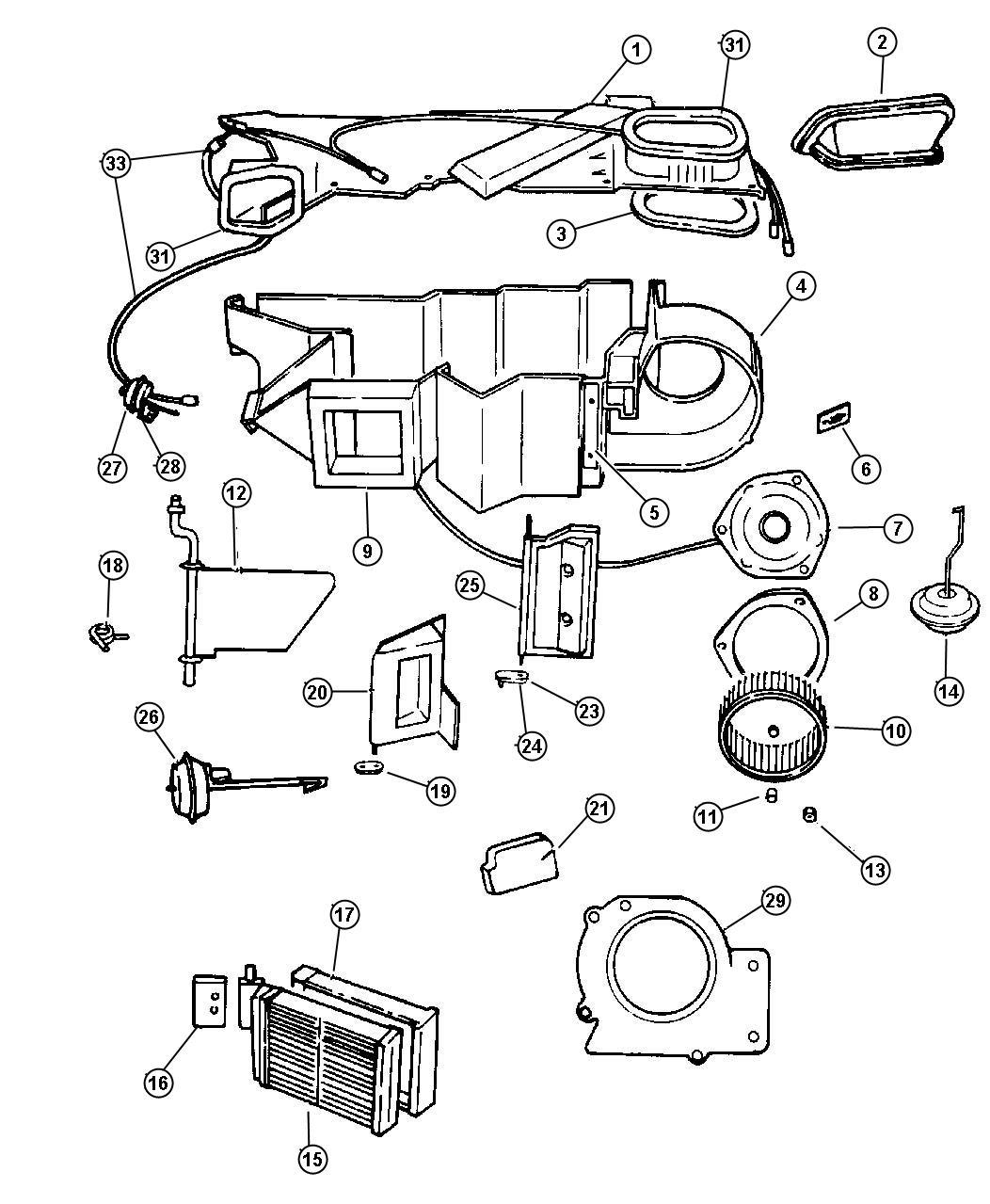 2000 Dodge Ram Blower Motor
