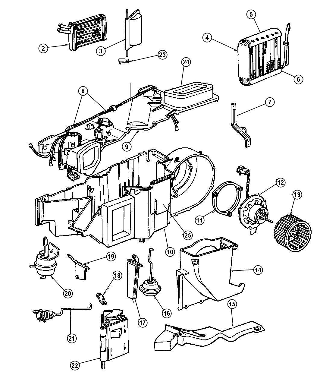 Dodge Dakota Evaporator Air Conditioning Coil A C