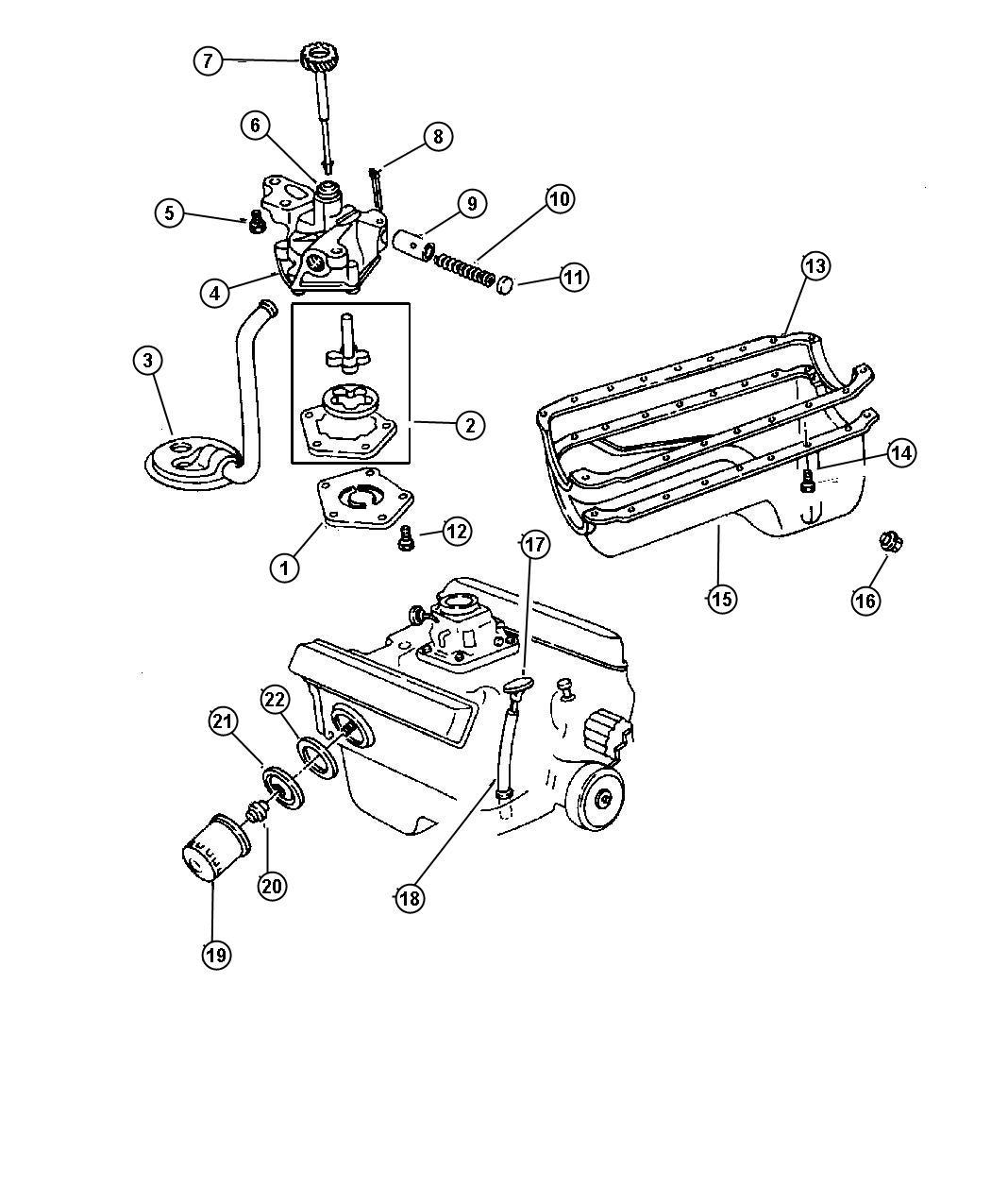 Dodge Dakota Plate Oil Filter Adapter Engine