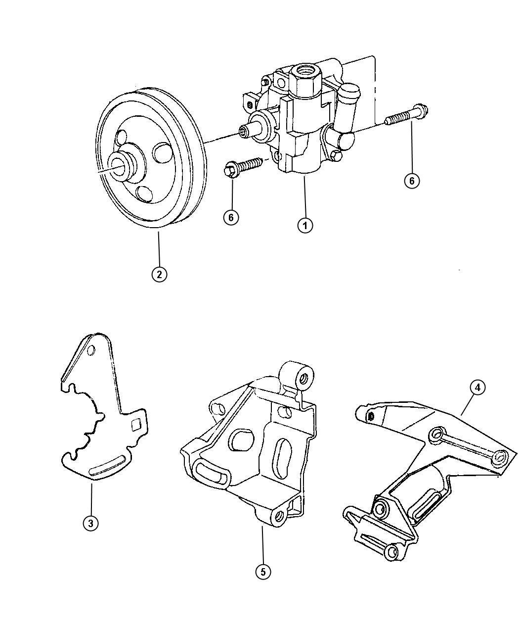Dodge Caravan Pump Power Steering Rack Pinion Sba