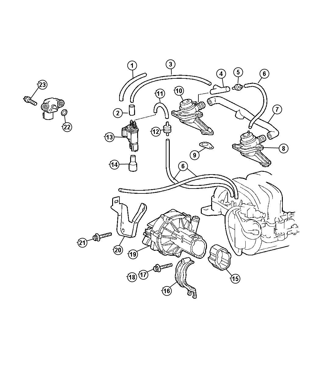 Chrysler 300 Bracket Air Pump Without Engine