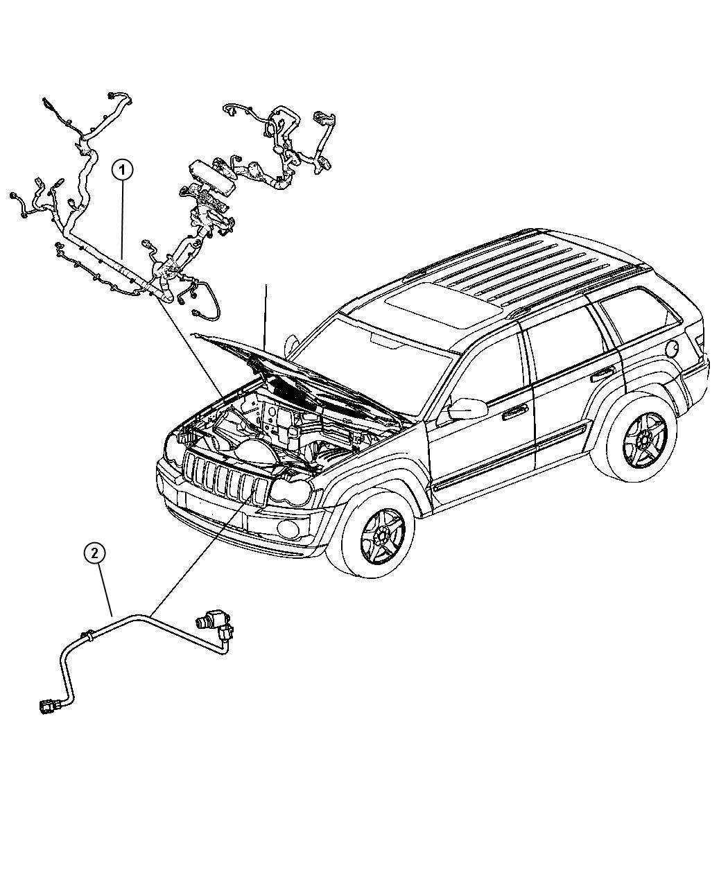Jeep Commander Harness Resistor Wiring Jumper Radiator