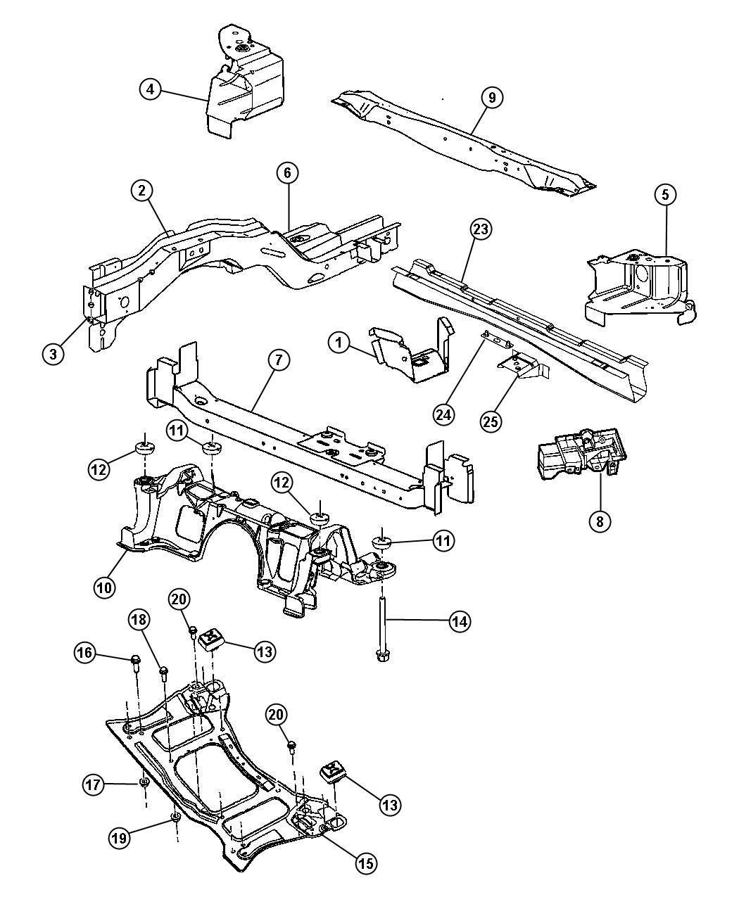 Dodge Caravan Tapping Plate Floor Crossmember Spare