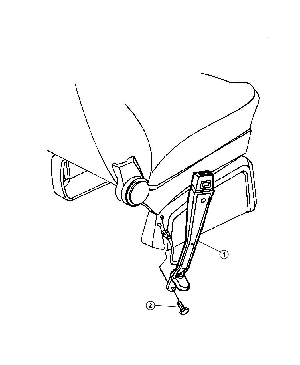 Dodge Caravan Seat Belt Rear Quad Inner D5 Trim