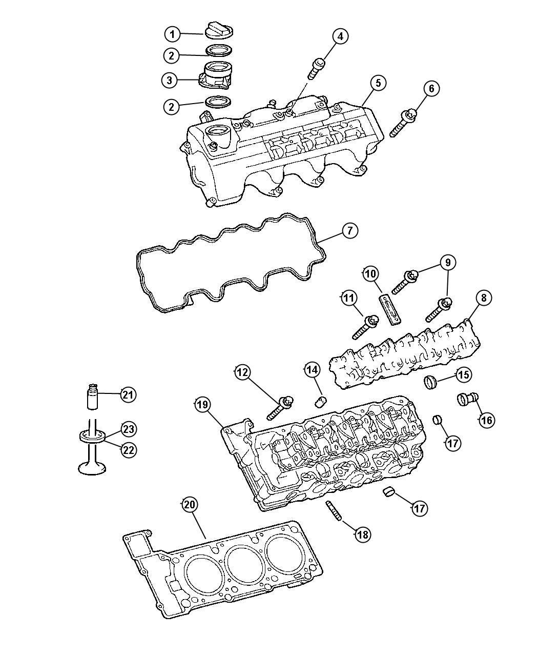 Chrysler Crossfire Head Cylinder Right Egx