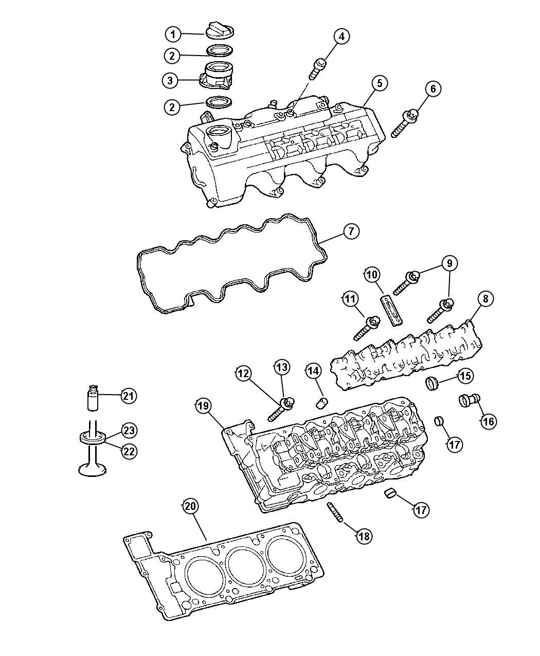 Chrysler Crossfire Seat Exhaust Valve Standard