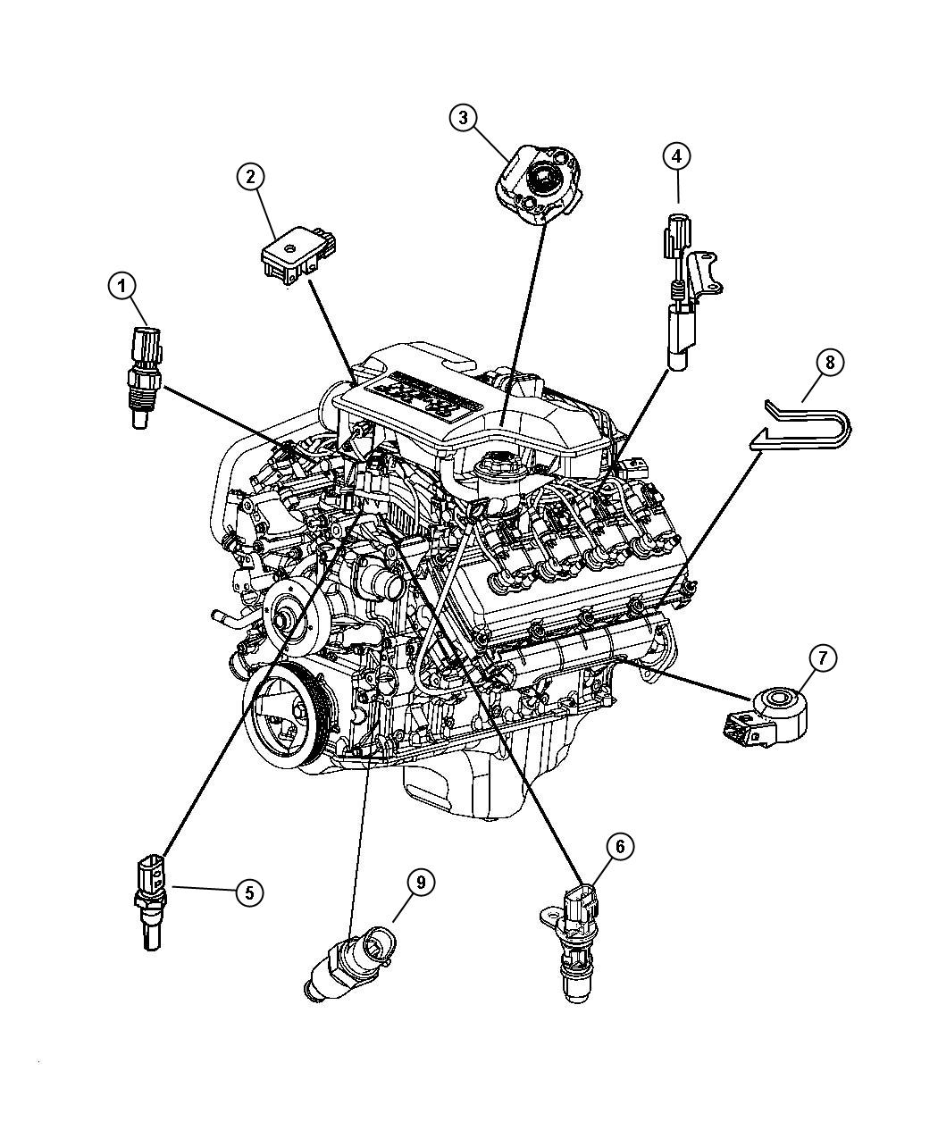 Dodge Challenger Sensor Crankshaft Position Engine