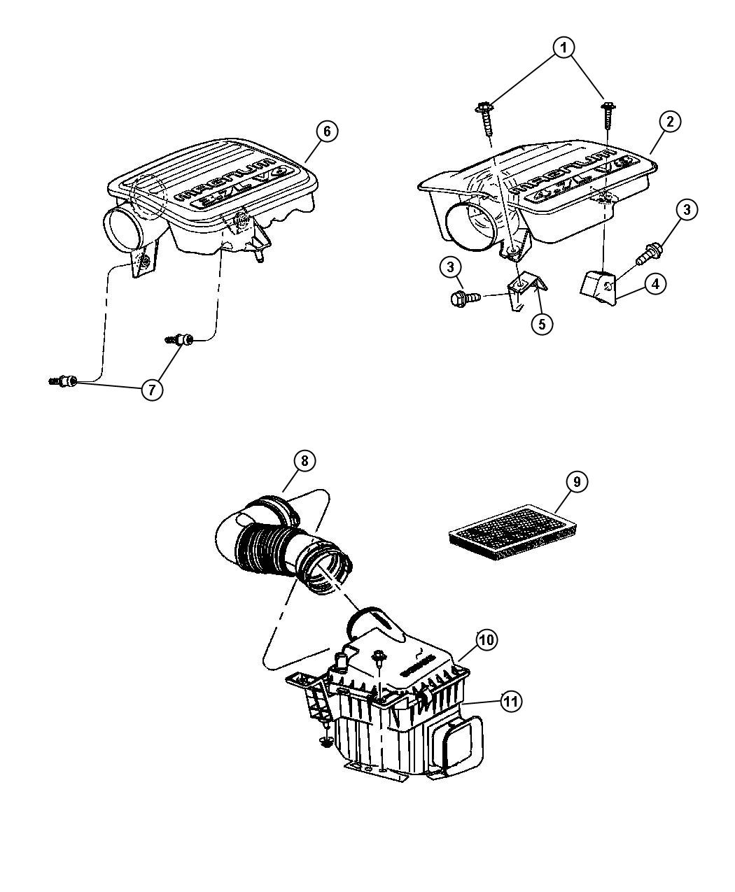 Dodge Durango Element Filter Air Air Cleaner Engine