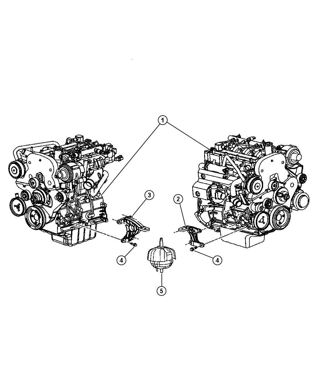 Jeep Liberty Insulator Engine Mount Right Mounts