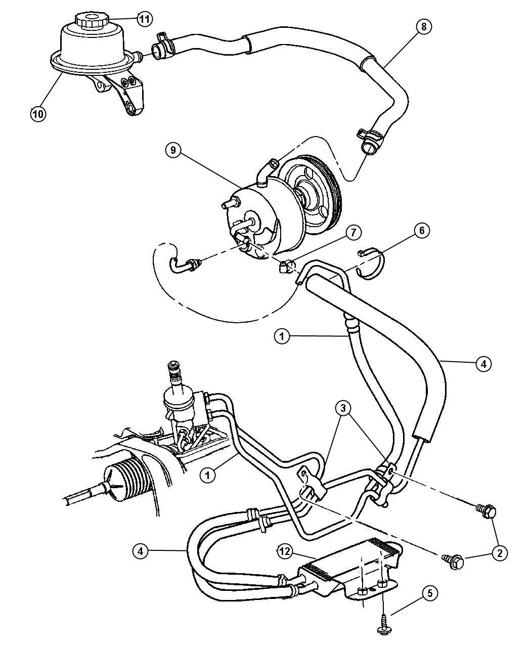 Dodge Caravan Reservoir Power Steering Fluid Power