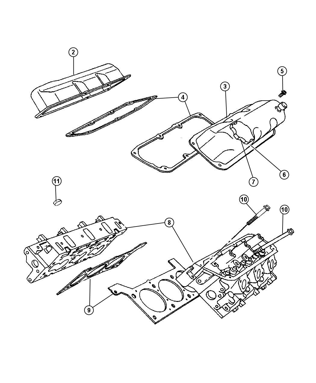 Dodge Ram Gasket Package Engine Upper Vechiles