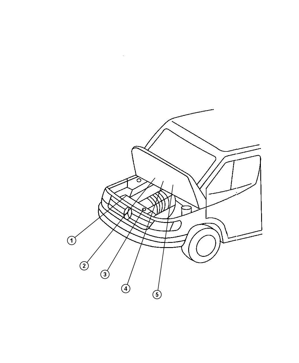 Dodge Sprinter Label Coolant Warning Federal