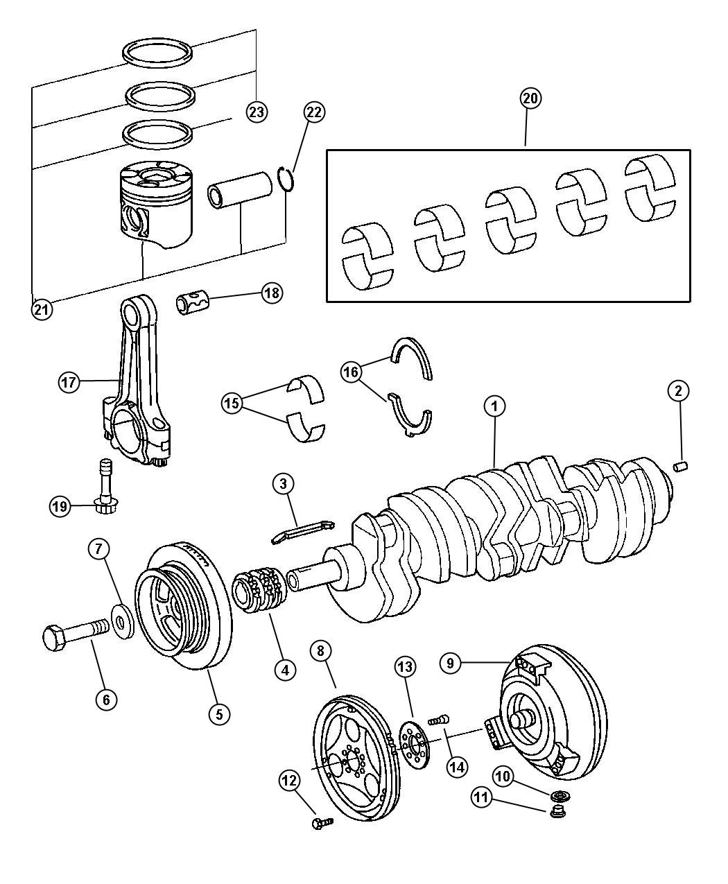 Dodge Sprinter Piston Crankshaftsel