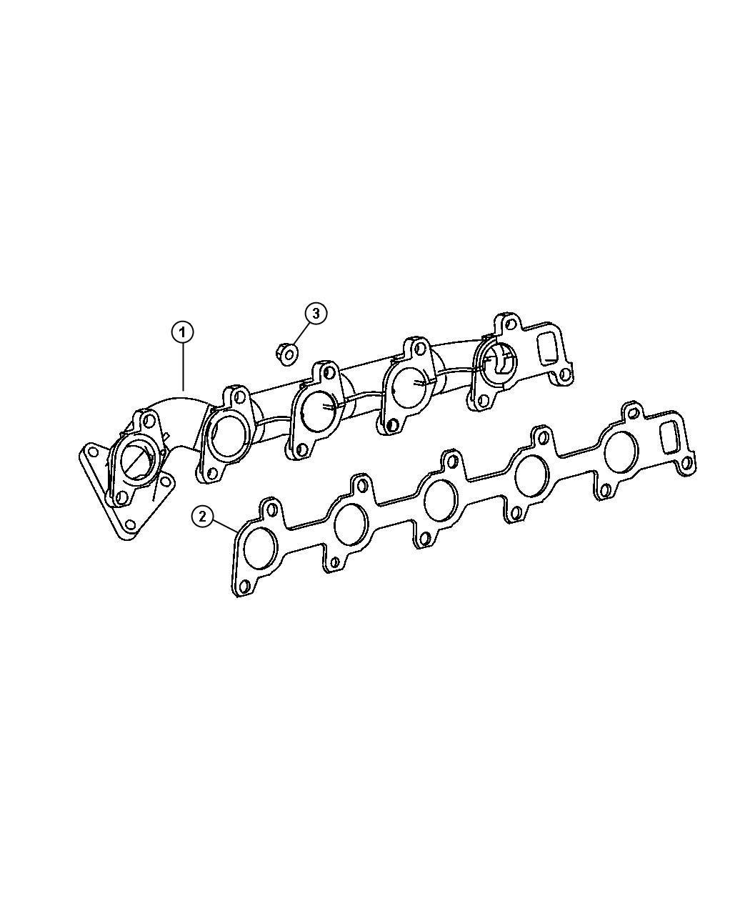 Dodge Sprinter Gasket Exhaust Manifold
