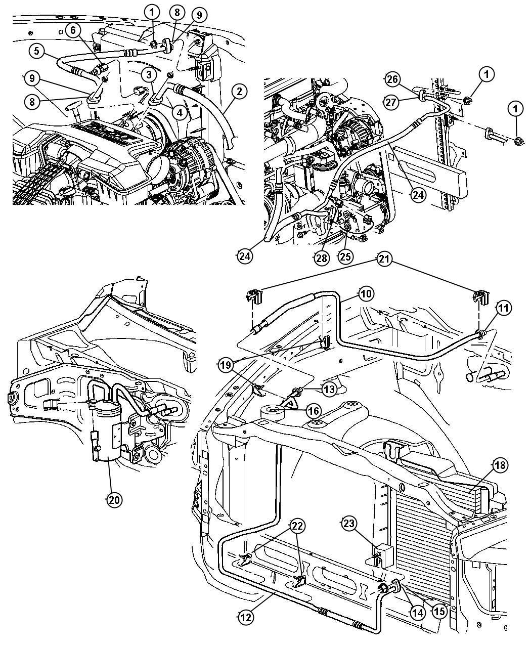 Dodge Ram Clip Wiring Liquid Line Mounting