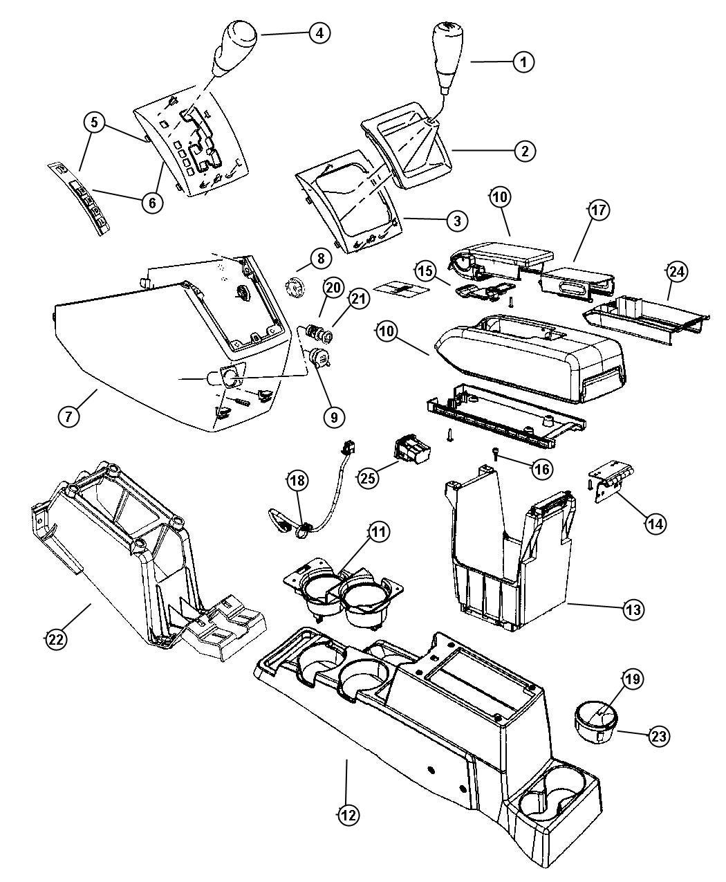 Dodge Caliber Bezel Console Shifter Trim All Trim