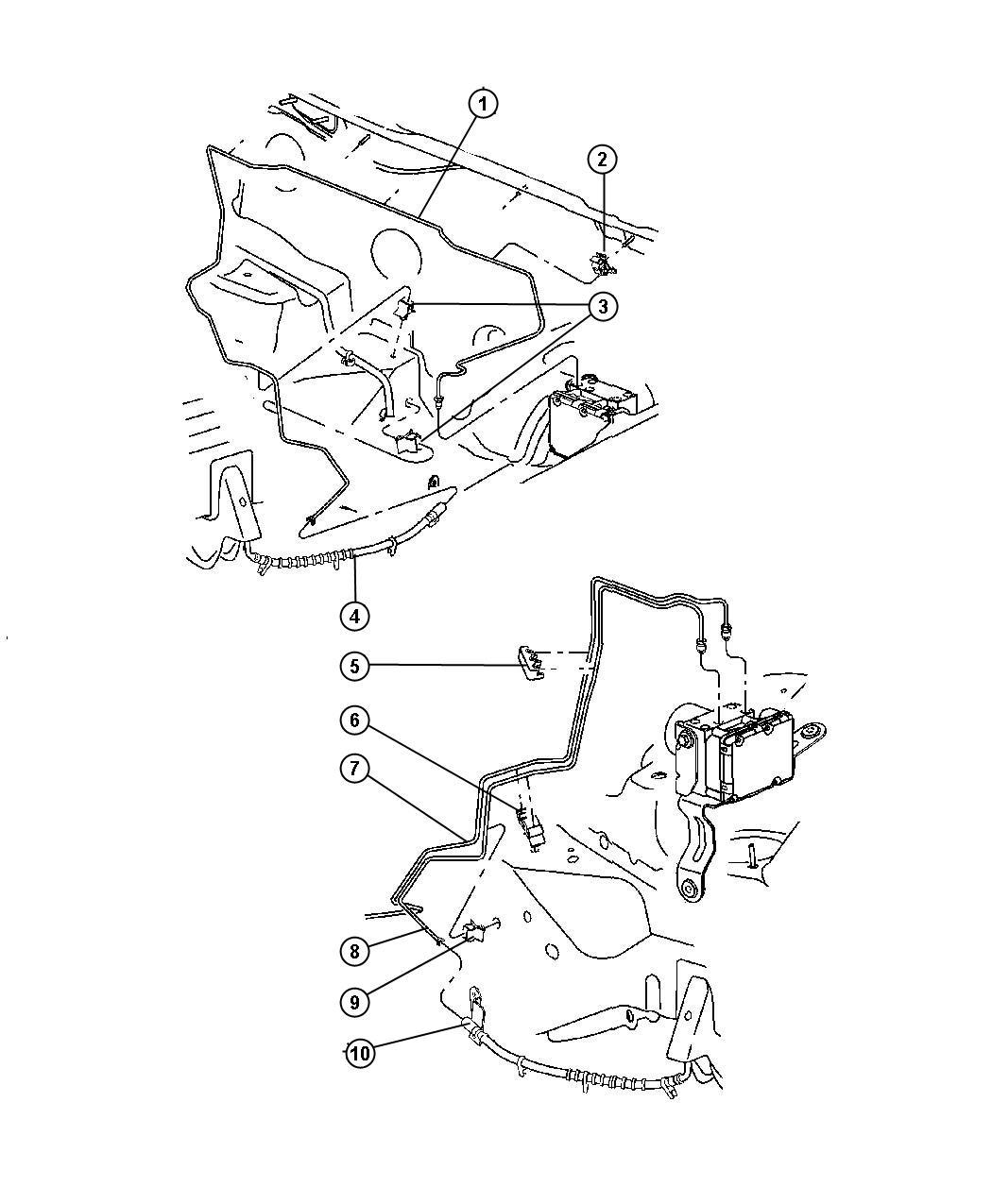 Dodge Stratus Tube Brake Chassis Rear Icu Ero