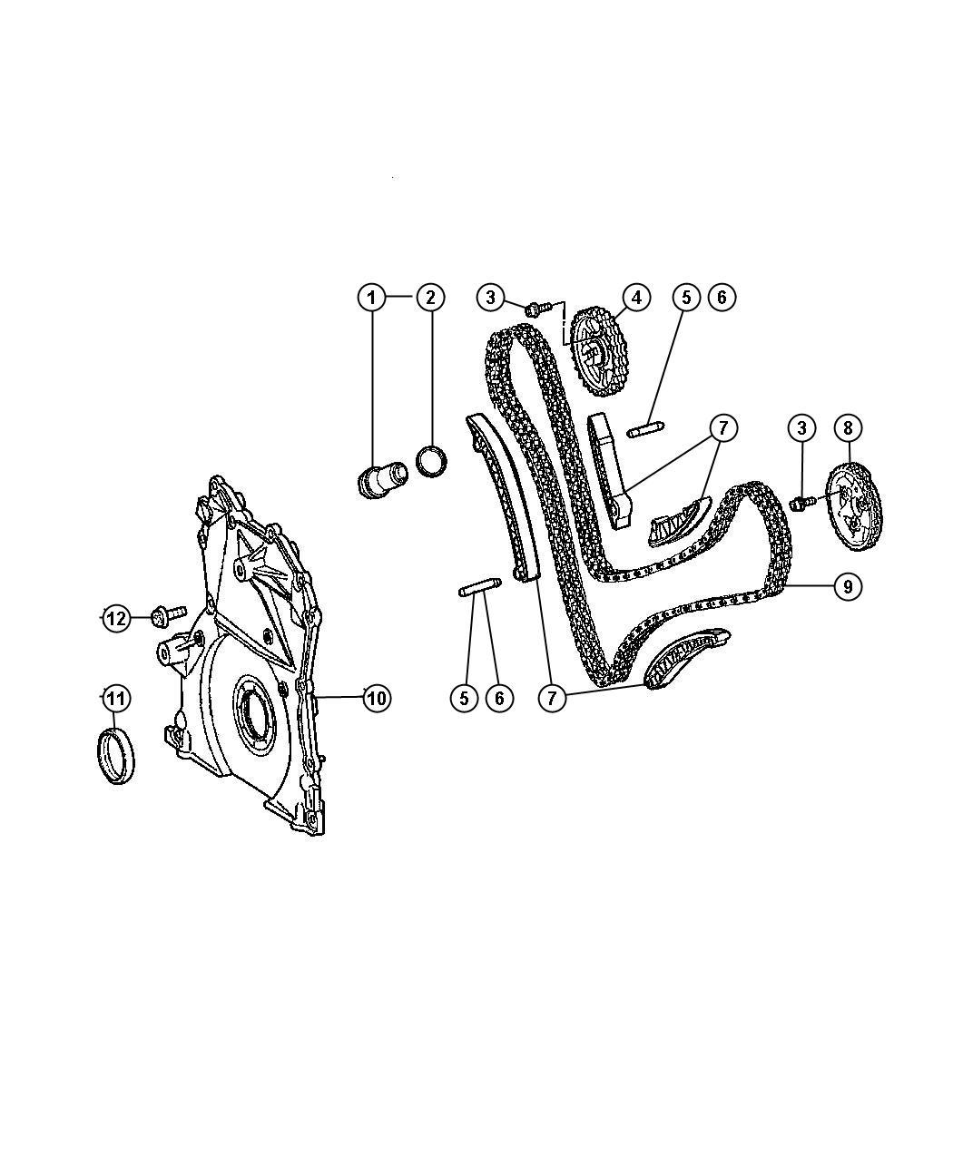 Dodge Sprinter Dowel Pin Pin Sliding Rail To
