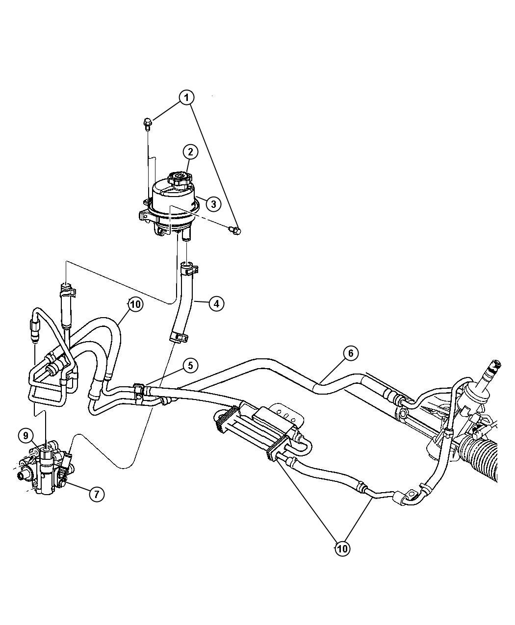 Dodge Avenger Pump Power Steering Assembly Mounting Engine