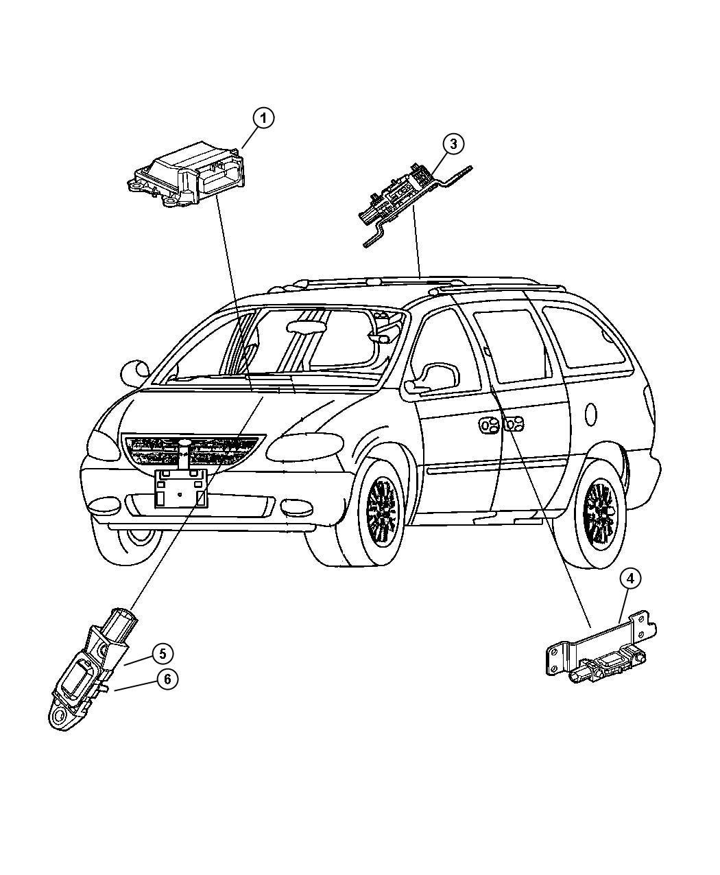 Dodge Grand Caravan Sensor Side Airbag Impact Right