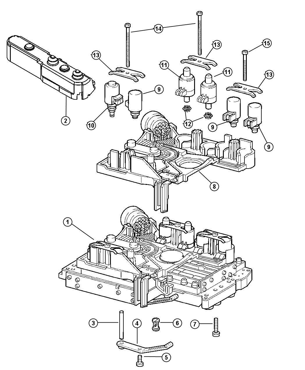 Dodge Caliber Valvebody Complete Hydraulic