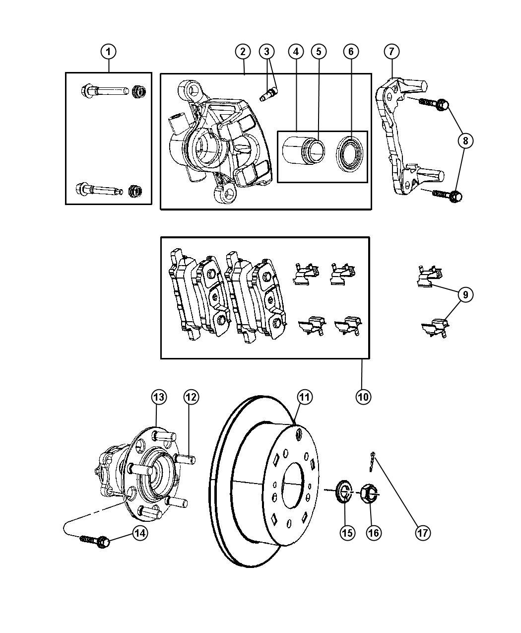 Jeep Patriot Caliper Caliper Assembly Disc Brake