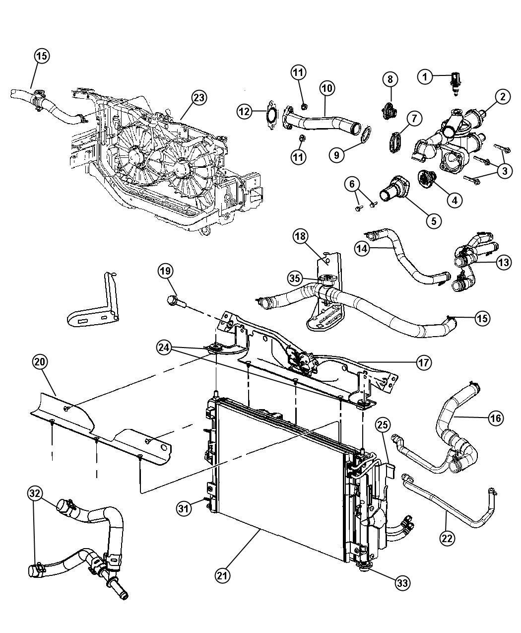 Jeep Patriot Hose Lower Radiator Outlet Radiator