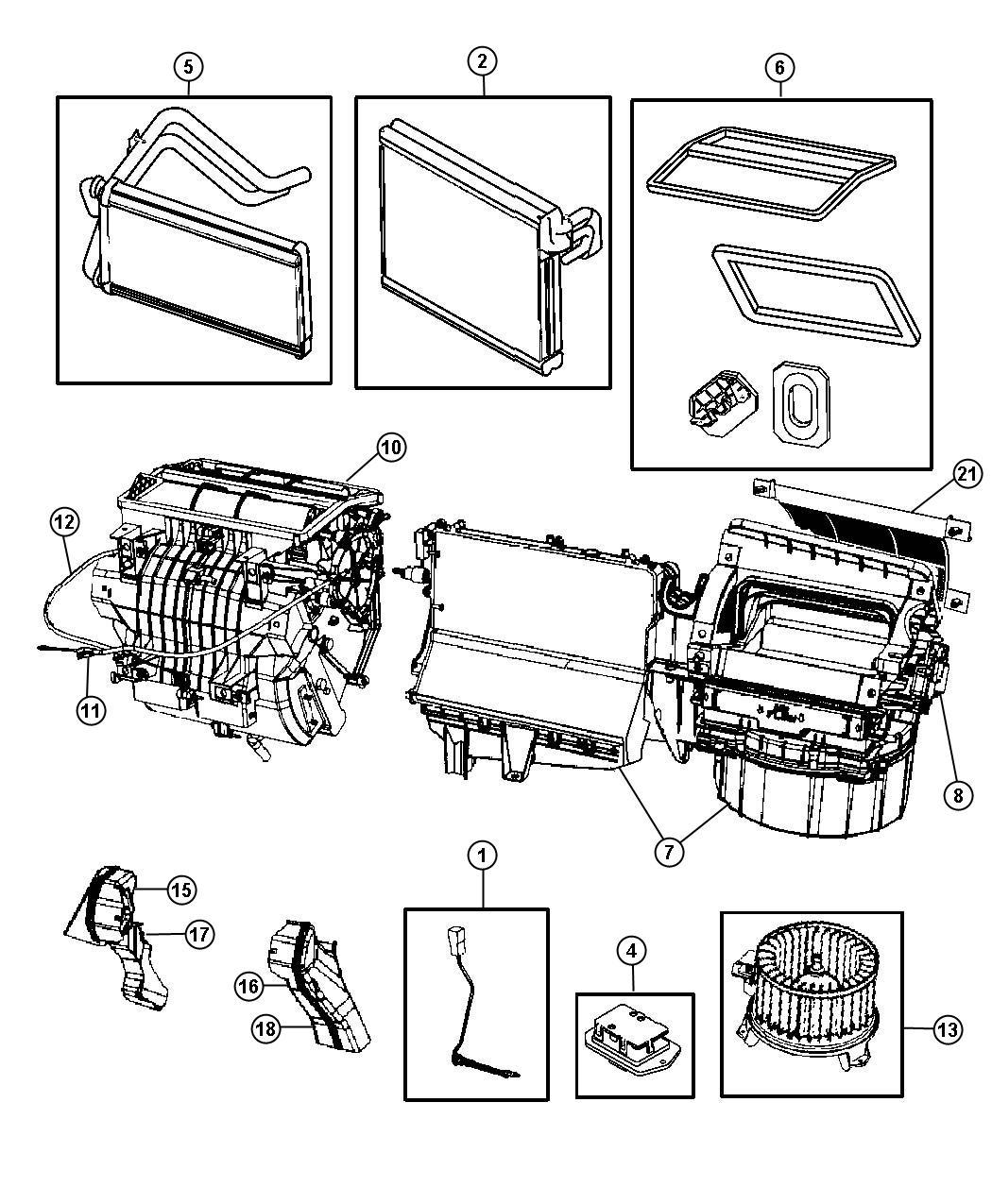Dodge Caliber Cable Mode Temperature Control Heater Air Unit